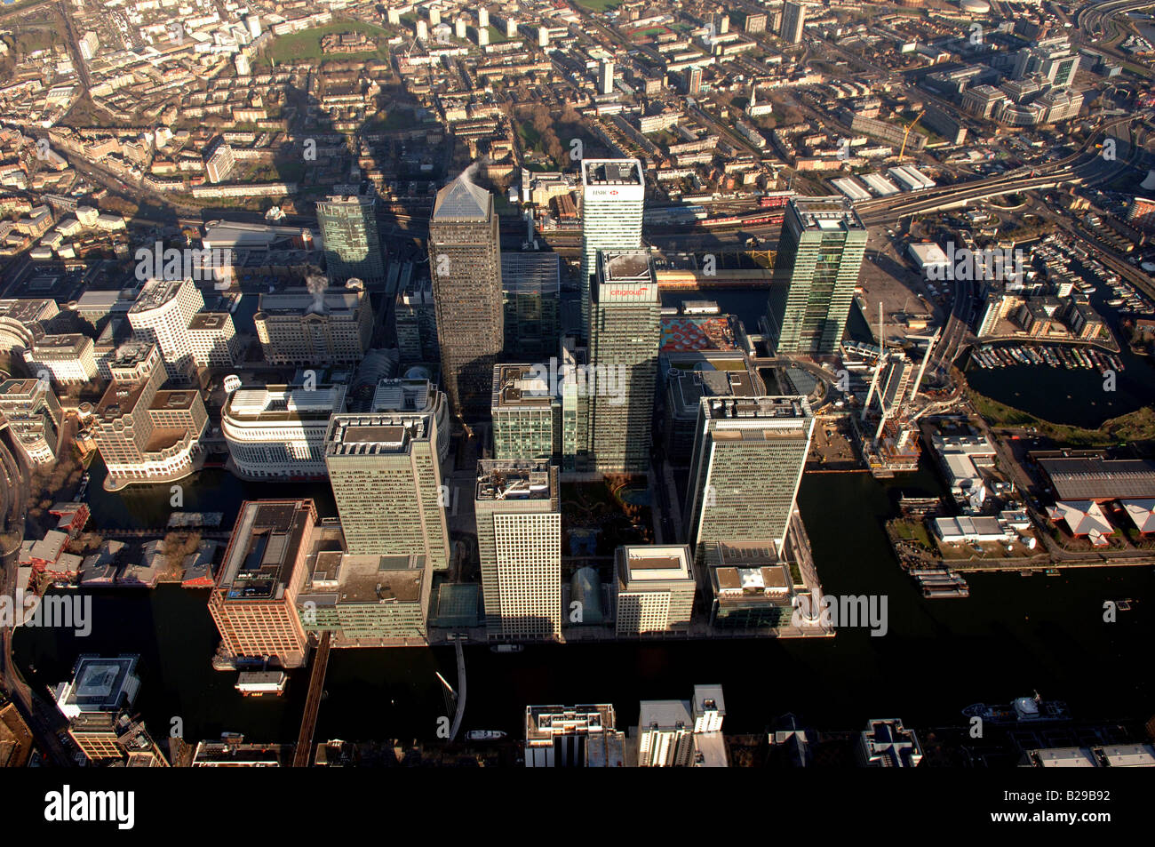 Canary Wharf Date 12 03 2008 Ref ZB648 111149 0015 COMPULSORY CREDIT World Pictures Photoshot - Stock Image