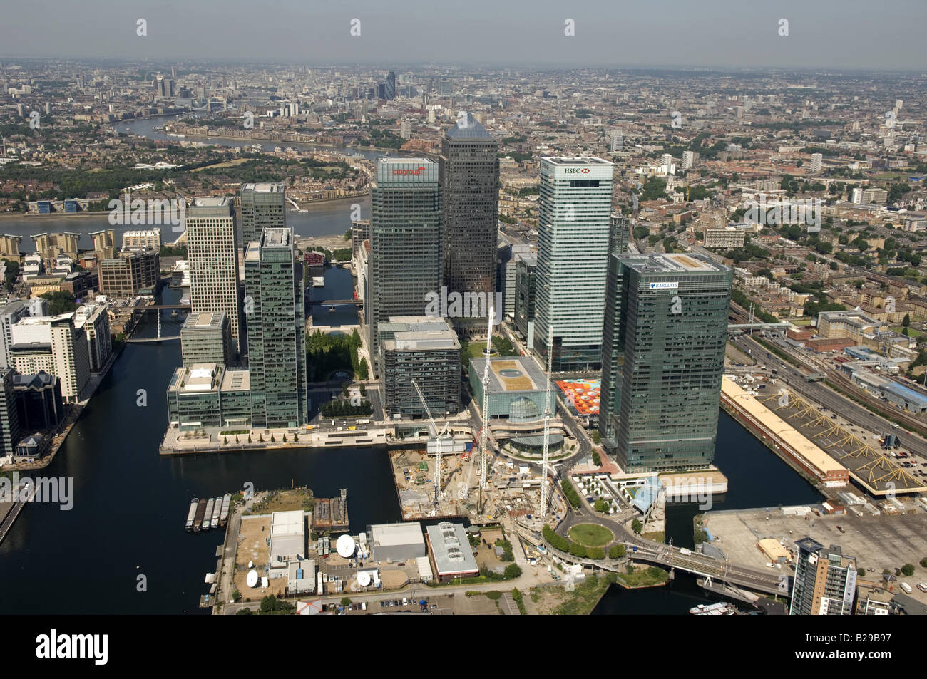 Canary wharf Date 12 03 2008 Ref ZB648 111149 0017 COMPULSORY CREDIT World Pictures Photoshot - Stock Image