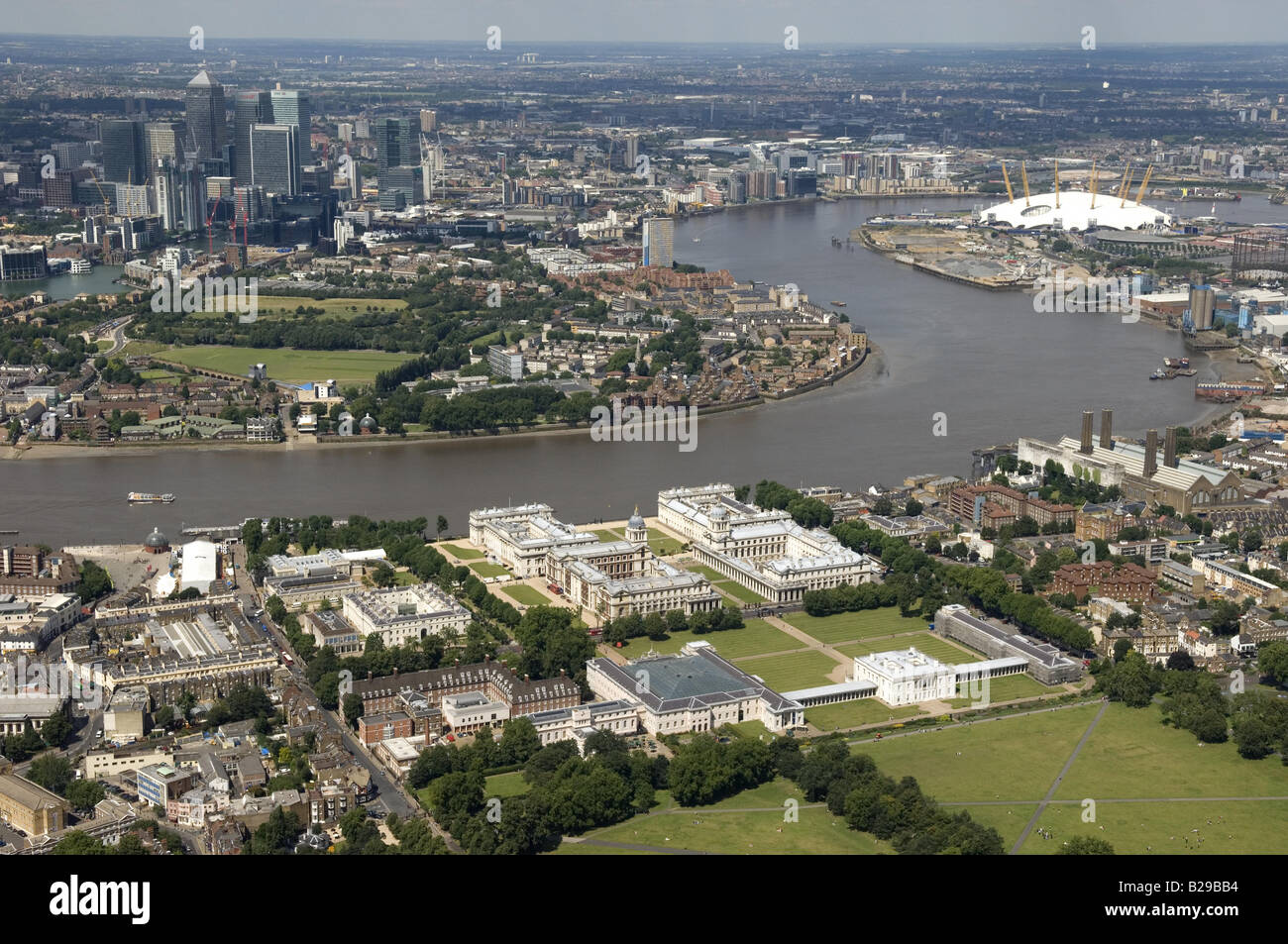 Greenwich across to Isle of Dogs Date 12 03 2008 Ref ZB648 111149 0039 COMPULSORY CREDIT World Pictures Photoshot - Stock Image