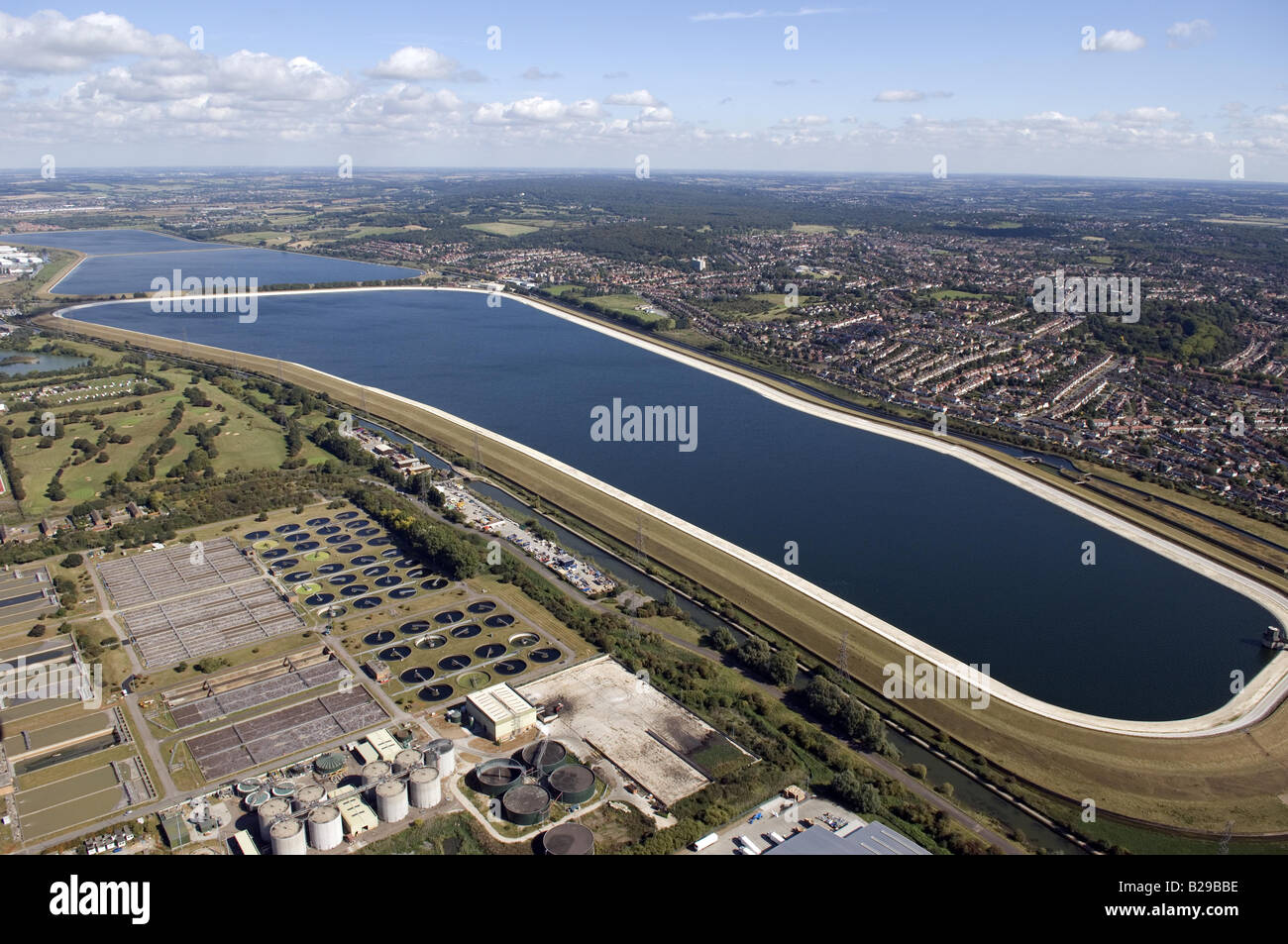 Lea Valley Reservoirs Date 12 03 2008 Ref ZB648 111149 0043 COMPULSORY CREDIT World Pictures Photoshot - Stock Image