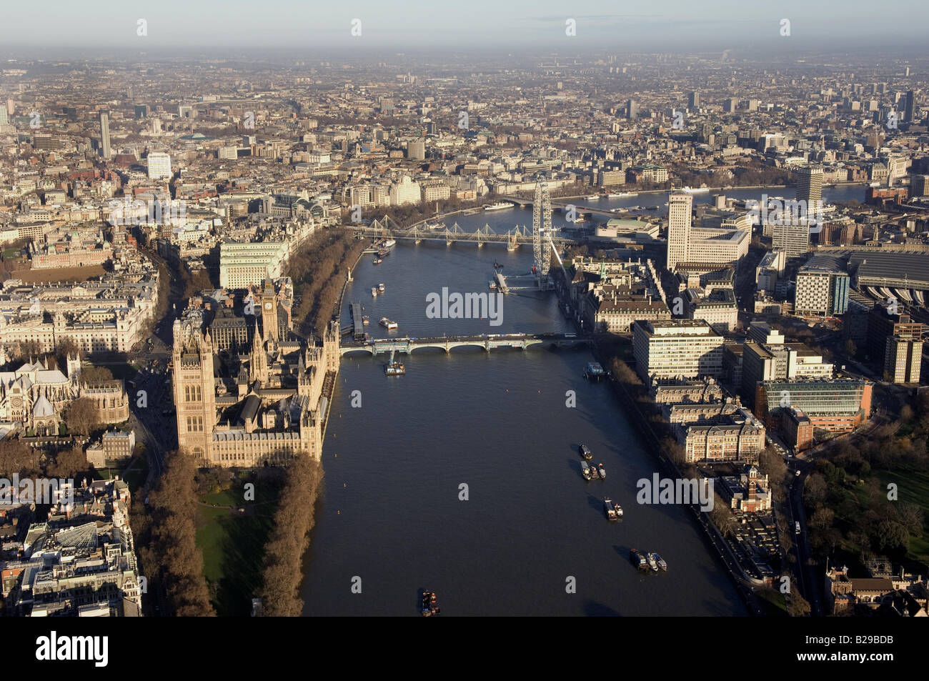 Westminster and Thames Date 12 03 2008 Ref ZB648 111149 0063 COMPULSORY CREDIT World Pictures Photoshot - Stock Image