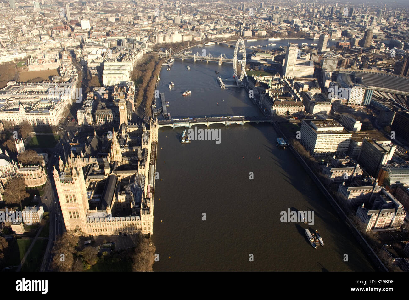 Westminster and Thames Date 12 03 2008 Ref ZB648 111149 0064 COMPULSORY CREDIT World Pictures Photoshot - Stock Image