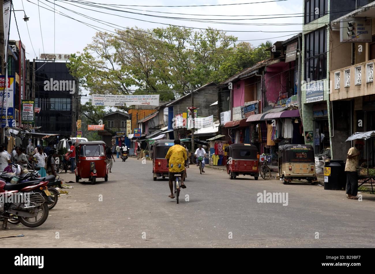 Aluthgama main street Sri Lanka Date 20 04 2008 Ref ZB648 115261 0012 COMPULSORY CREDIT World Pictures Photoshot - Stock Image