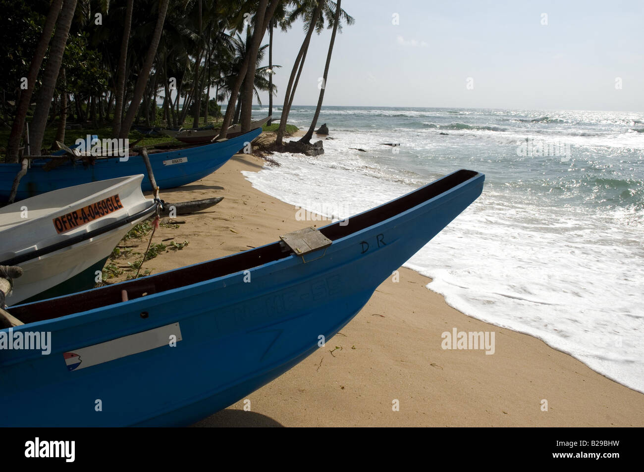 Fishing boats near galle Sri Lanka Date 20 04 2008 Ref ZB648 115261 0045 COMPULSORY CREDIT World Pictures Photoshot - Stock Image