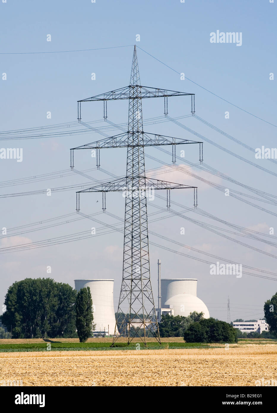 Nuclear power plant Biblis of the RWE AG - Stock Image