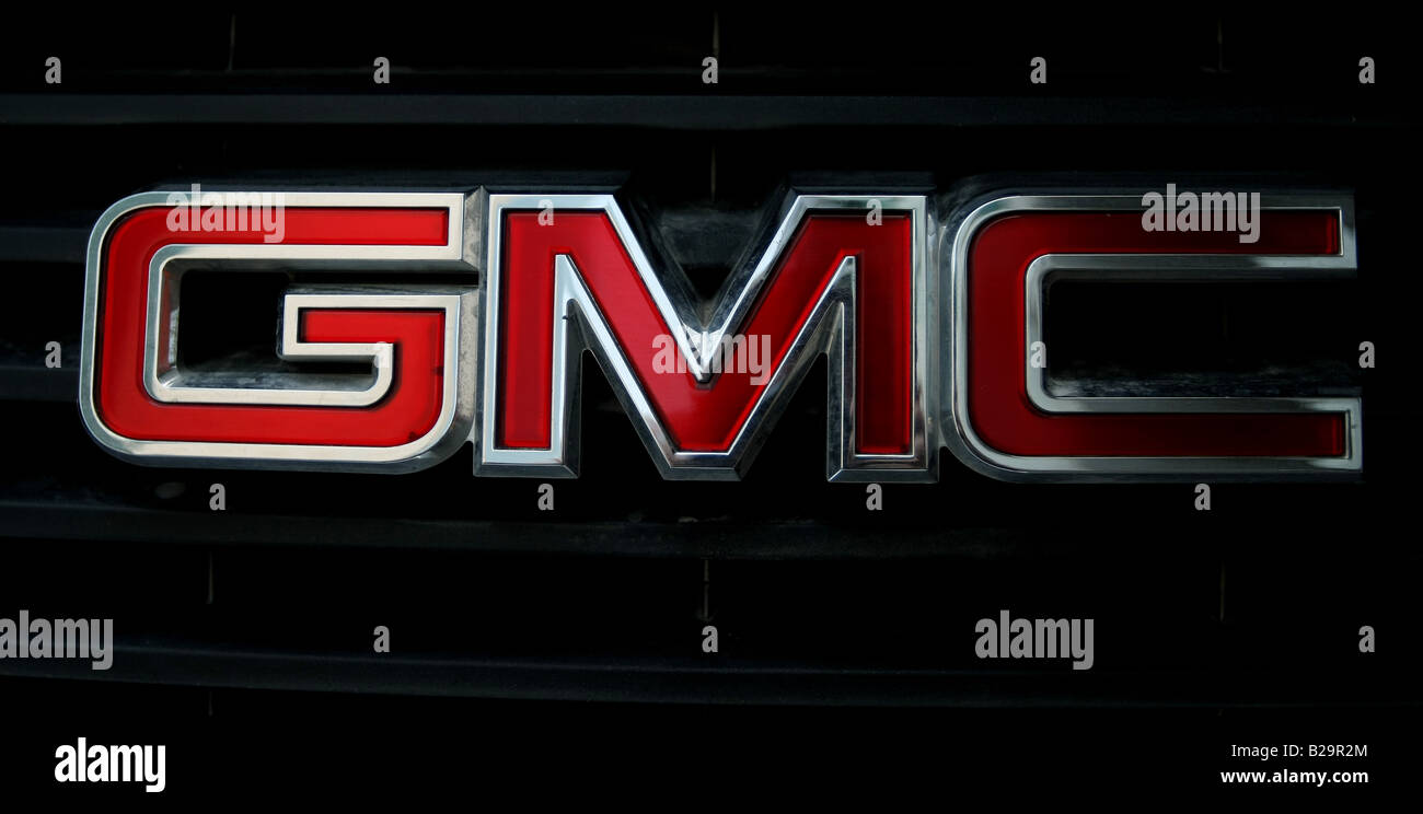 A General Motors Corp Logo on the front of a 4x4 car - Stock Image