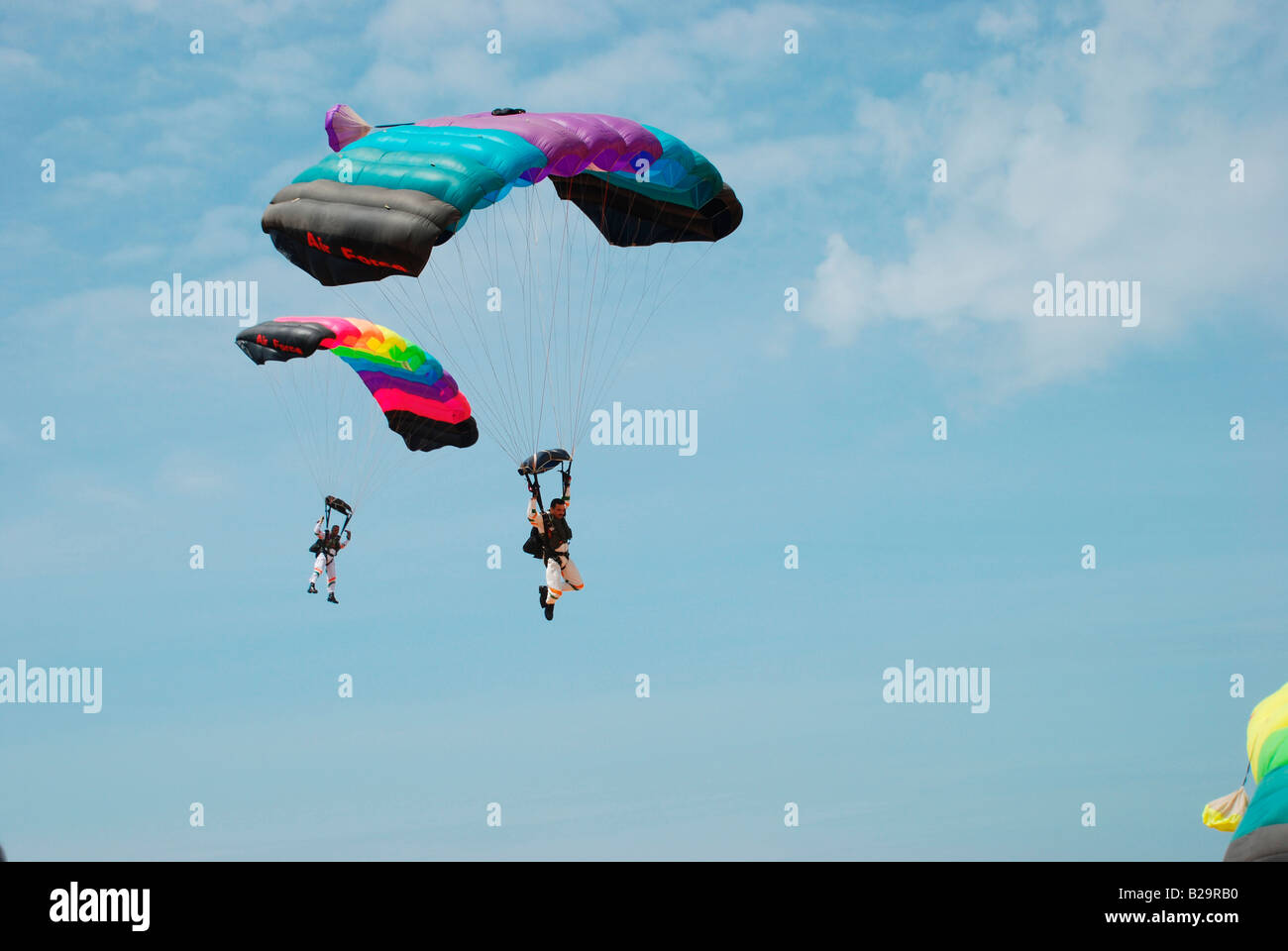 Paratroopers of Indian air force - Stock Image