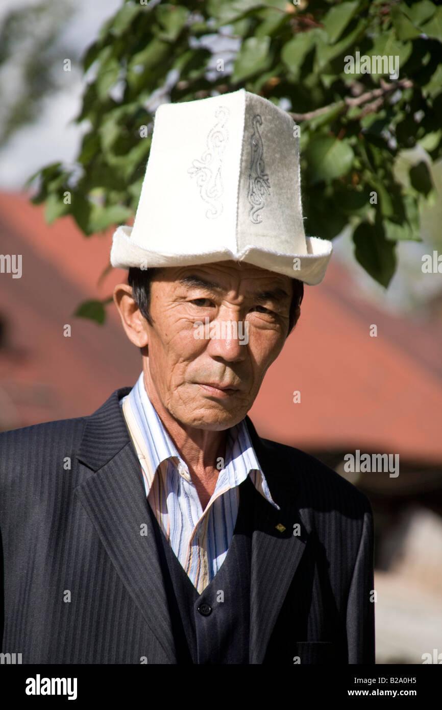 Silk Route Kyrgyzstan Karakol Wedding Party Bride s Father - Stock Image