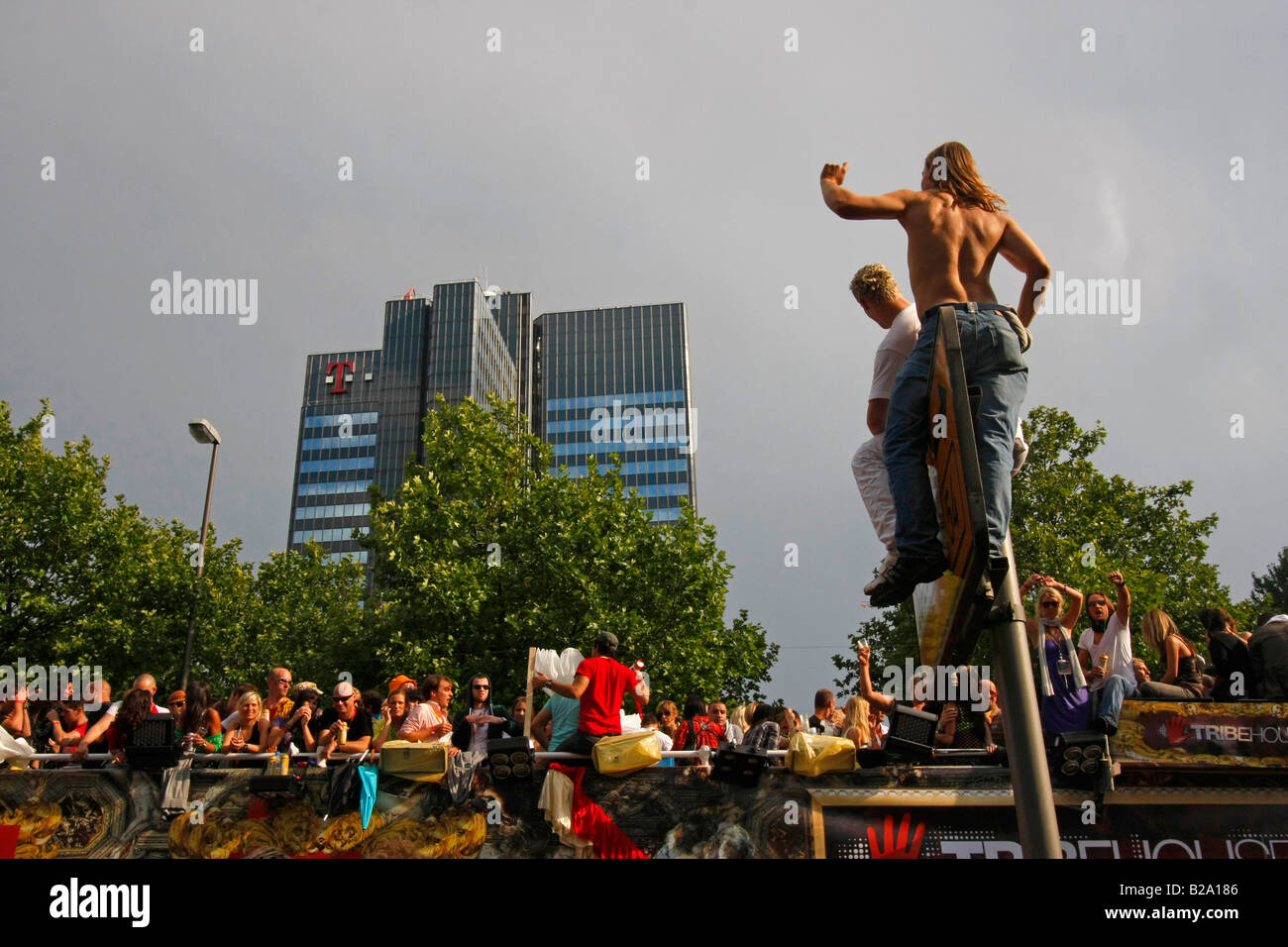 party people at the Love Parade 2008 in Dortmund Germany Stock Photo