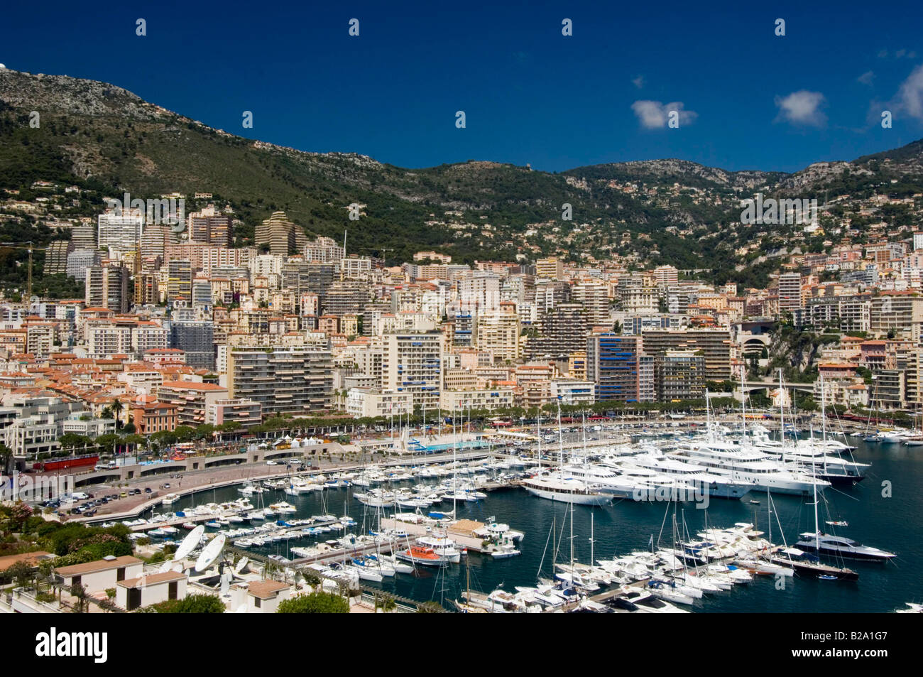 Monaco view over the port Date 12 02 2008 Ref WP B726 110139 0040 COMPULSORY CREDIT World Pictures Photoshot - Stock Image