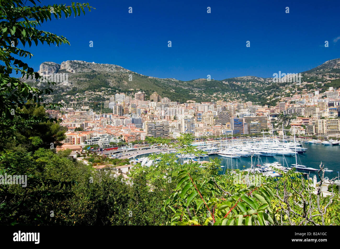 Monaco view over the port Date 12 02 2008 Ref WP B726 110139 0043 COMPULSORY CREDIT World Pictures Photoshot - Stock Image