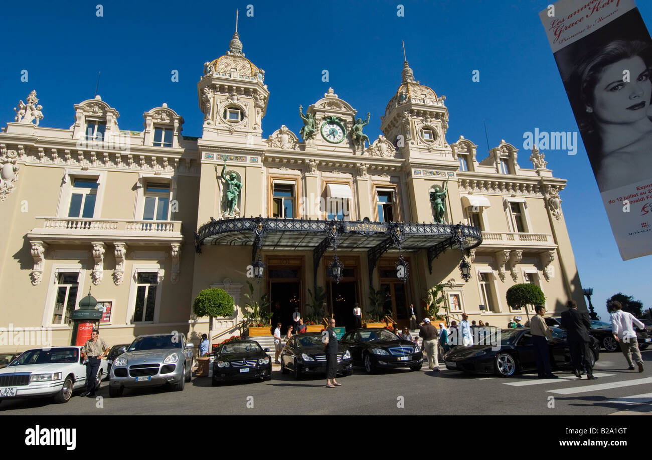 Principality of Monaco The Casino Date 12 02 2008 Ref WP B726 110139 0052 COMPULSORY CREDIT World Pictures Photoshot - Stock Image