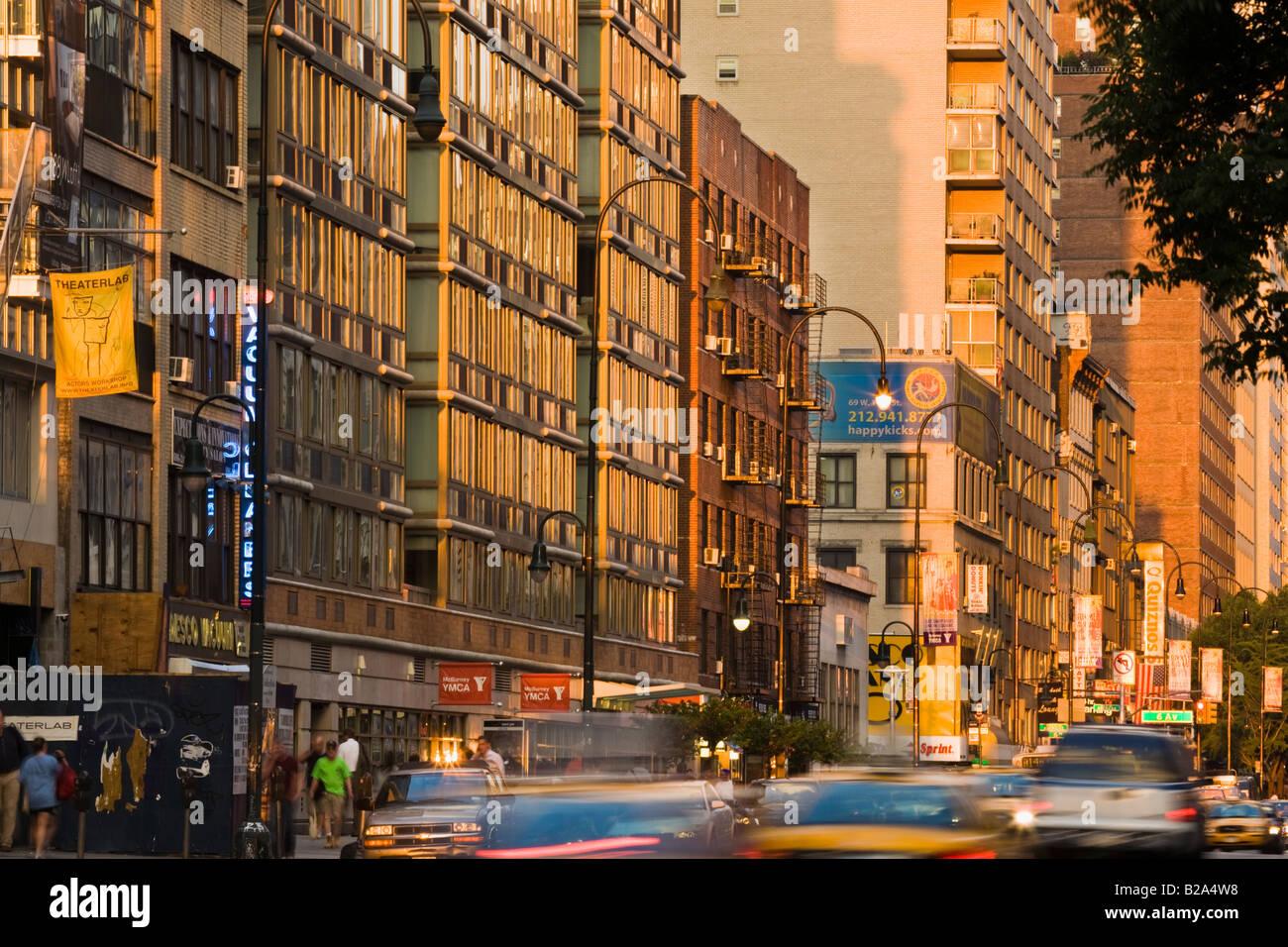 Fourteenth Street near Sixth Avenue New York City - Stock Image