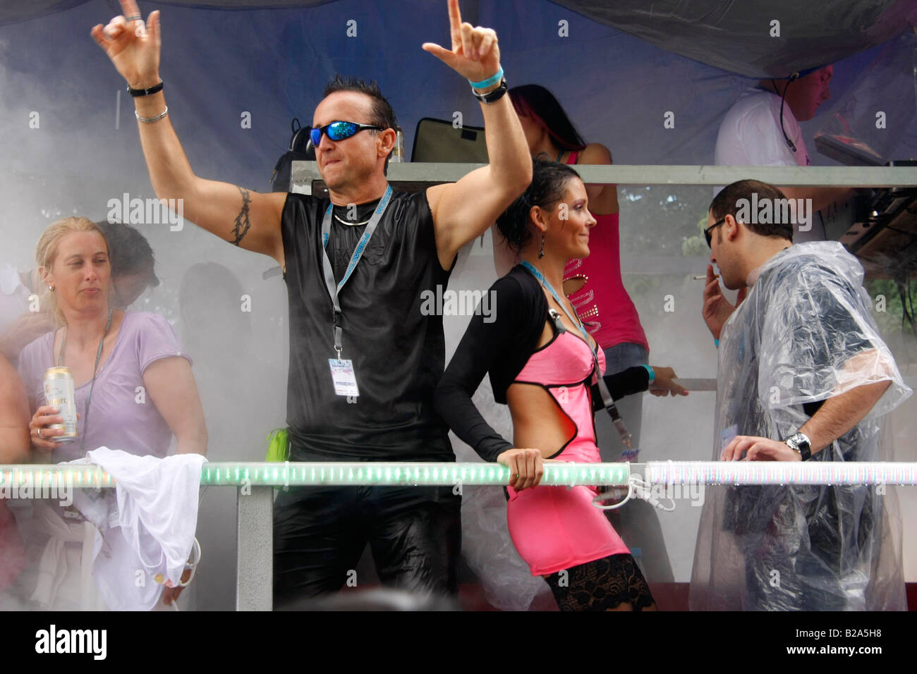 The Love Parade 2008 in Dortmund Germany Stock Photo