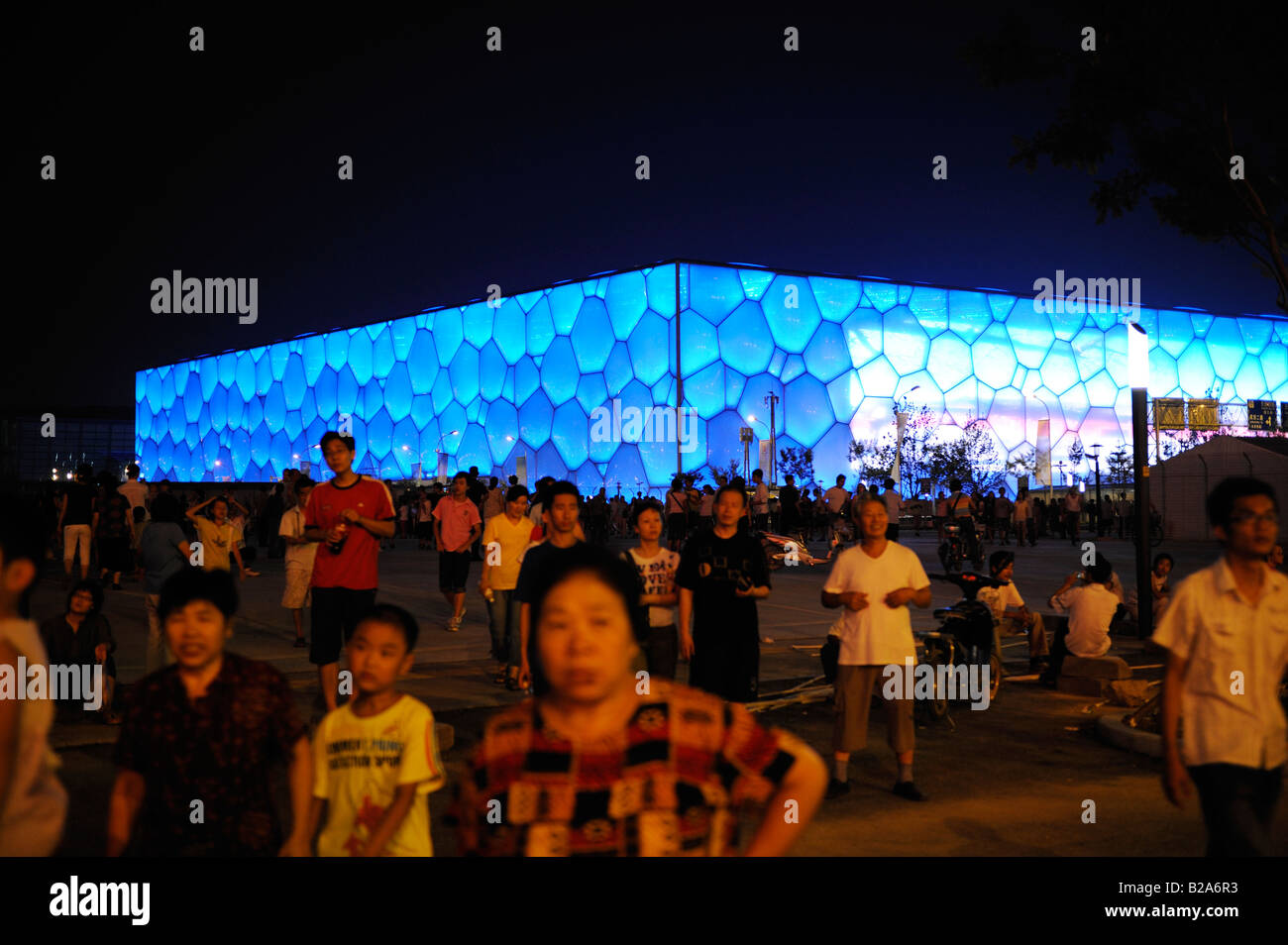 National Aquatics Center for the Beijing 2008 Olympic Games. 22-Jul-2008 - Stock Image