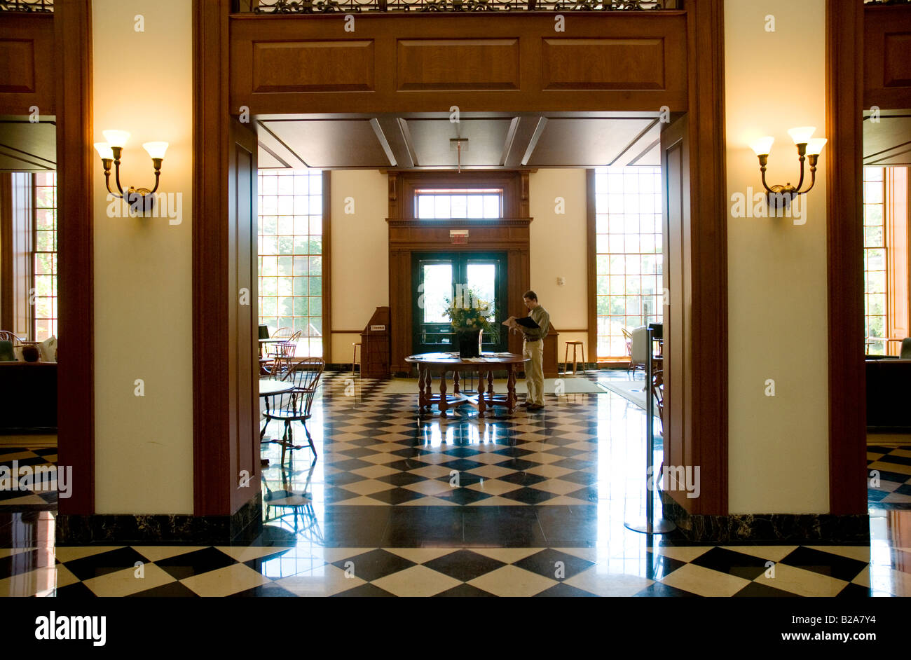 Interior Of Baker Library Of Harvard Business School Boston MA