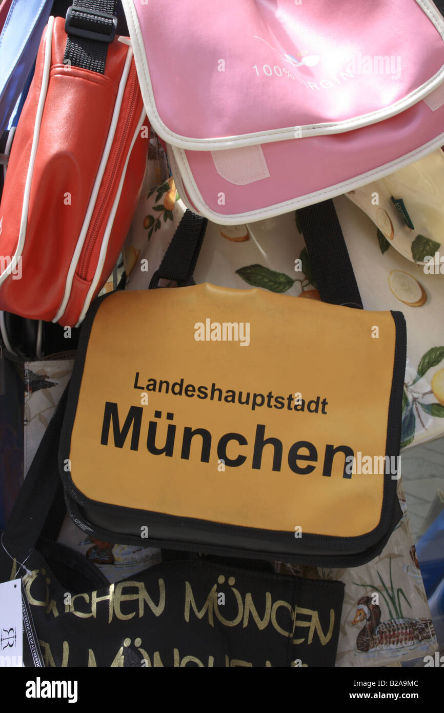 bag for sale at shop in Munich, Bavaria, Germany. Photo by Willy Matheisl - Stock Image