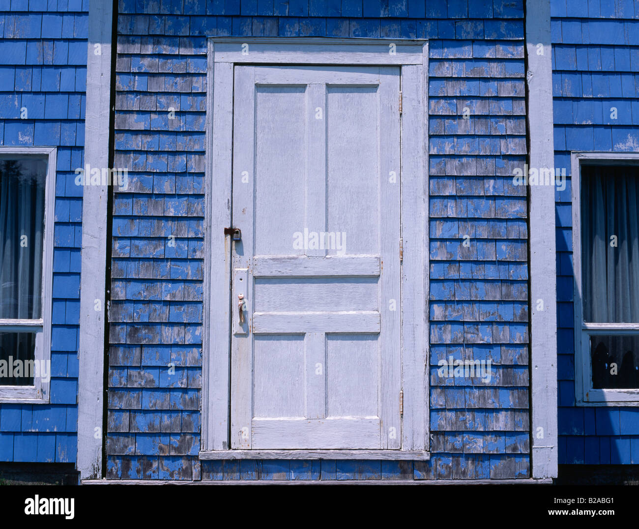Detail of old wooden door to clapboard house in Nova Scotia Canadian Maritimes Canada & Detail of old wooden door to clapboard house in Nova Scotia Canadian ...