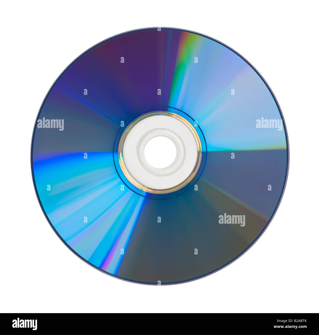 CD DVD isolated on white background - Stock Image