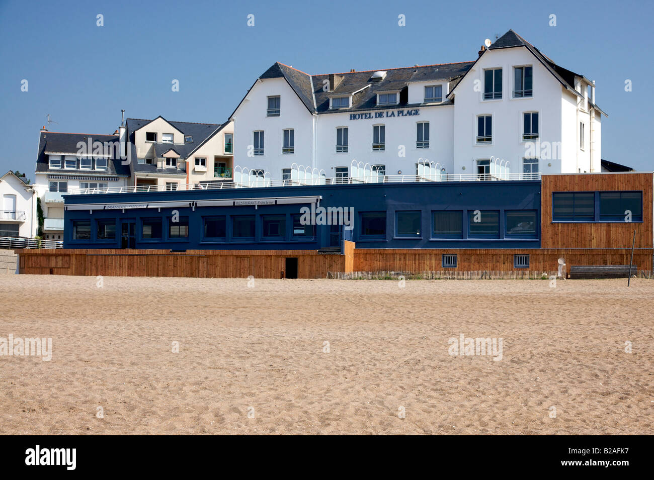 Hotel de La Plage in Saint Marc Sur Mer, film location for Les Vacances de Monsieur Hulot by Jacques Tati - Stock Image