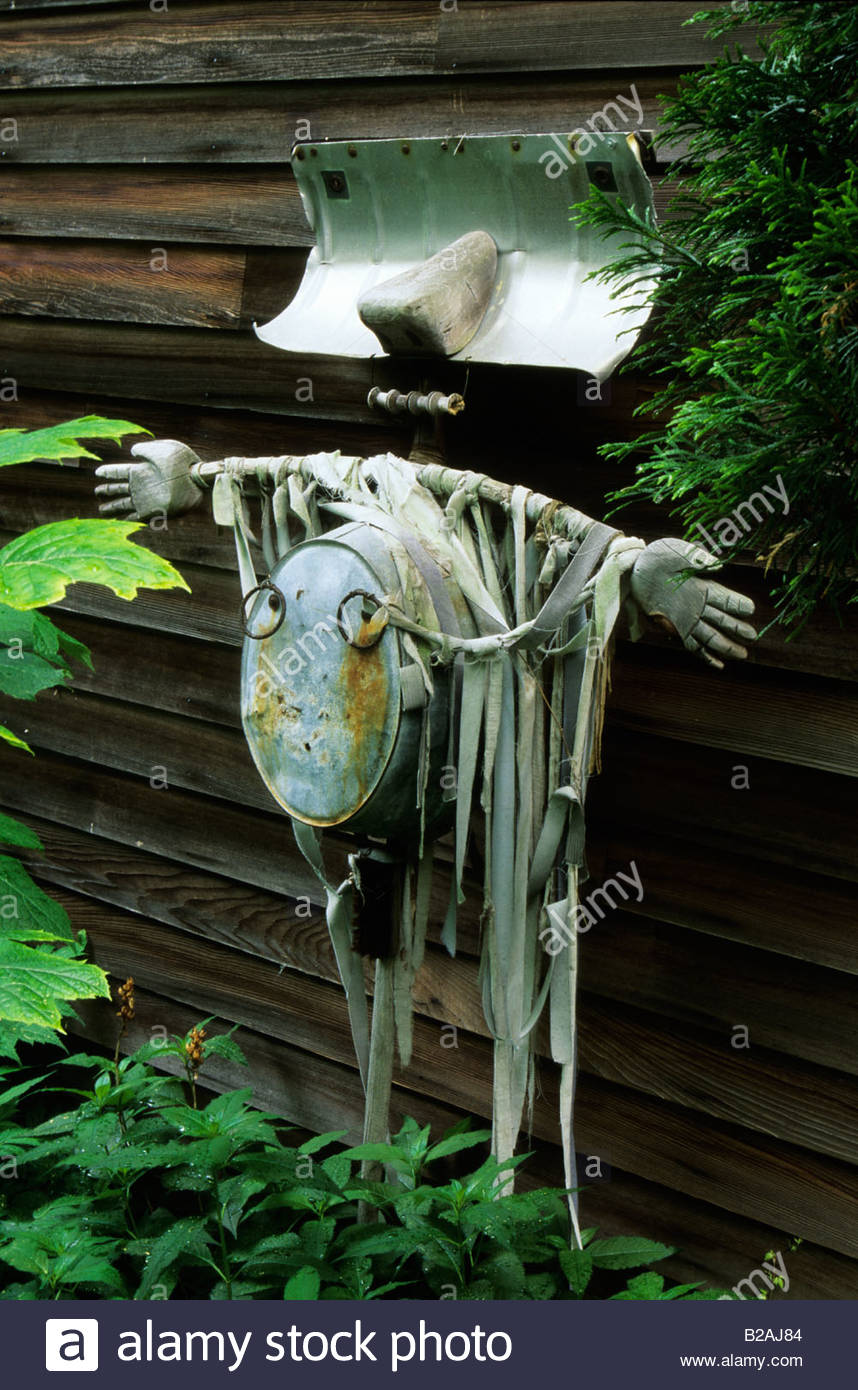 The Simpson s garden New York USA found object sculpture - Stock Image