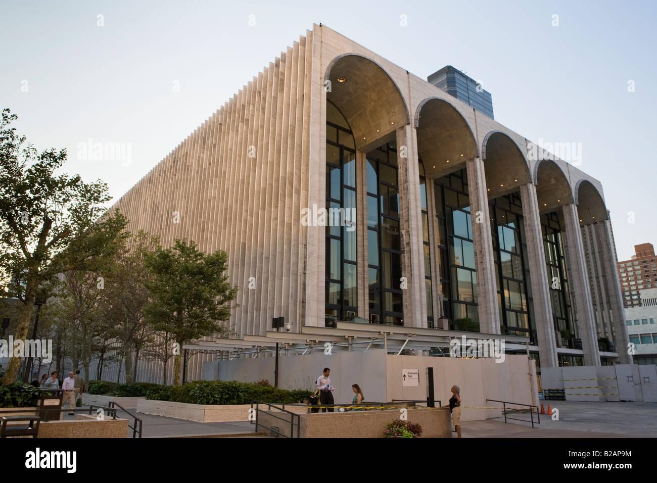 Metropolitan Opera House Lincoln Center New York City - Stock Image