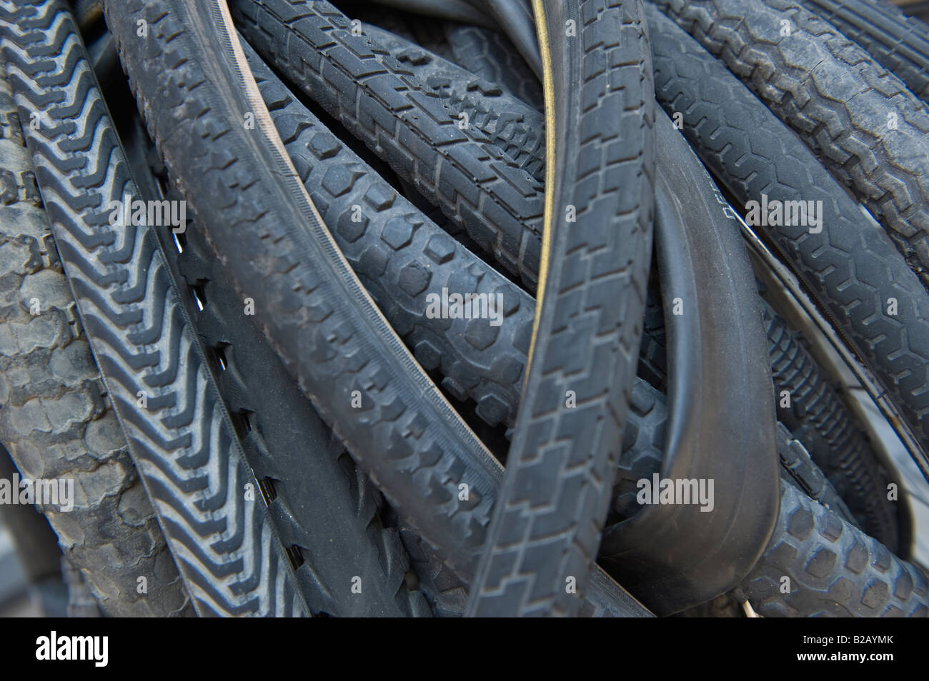 Bicycle tyres - Stock Image