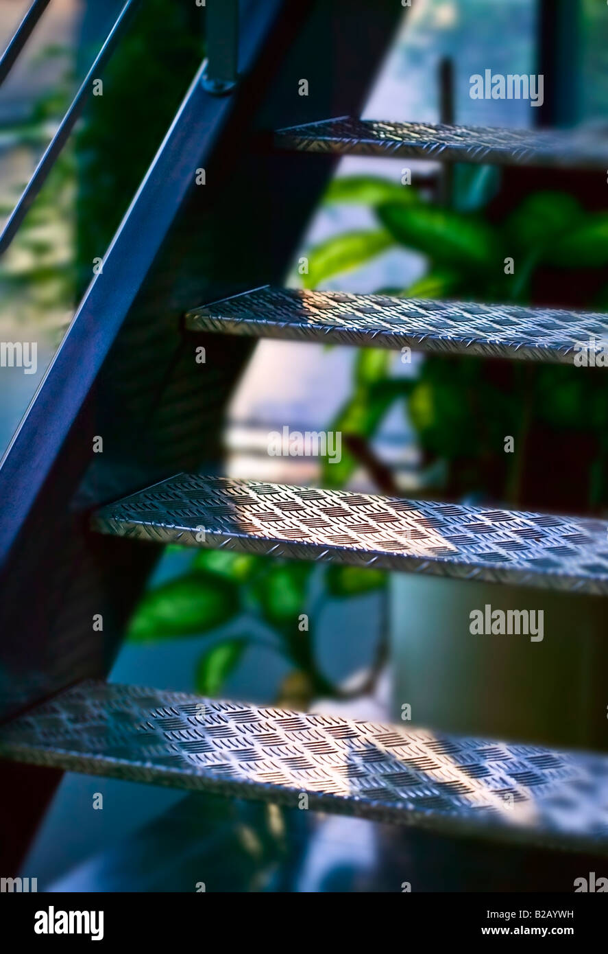 metal stairway [low angle view] - Stock Image