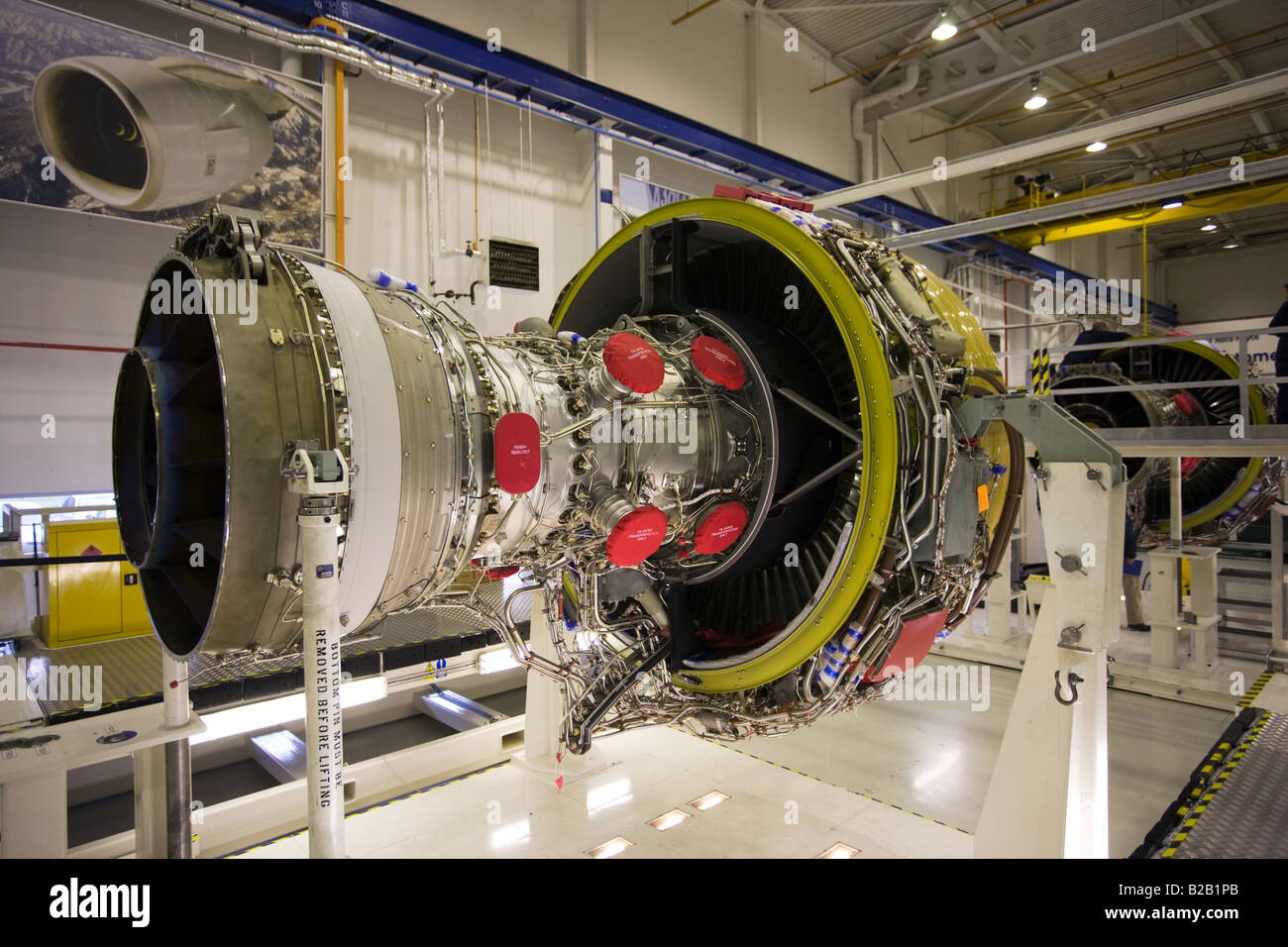 Rolls Royce jet engine production factory Derbyshire United Kingdom - Stock Image