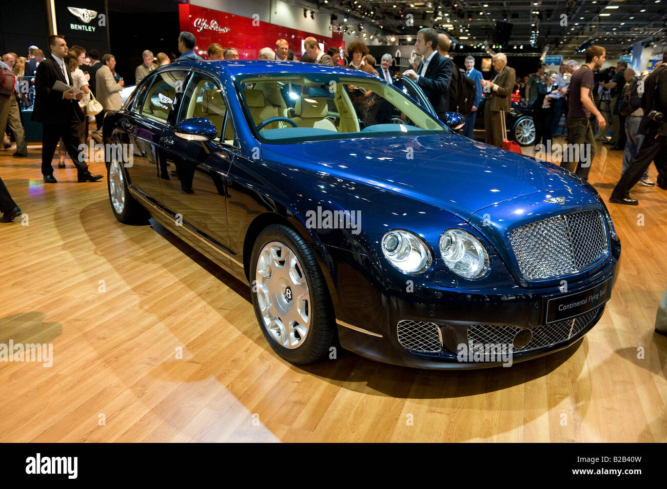 Bentley Continental Flying Spur at the 2008 British International Motorshow at Excel Docklands London - Stock Image