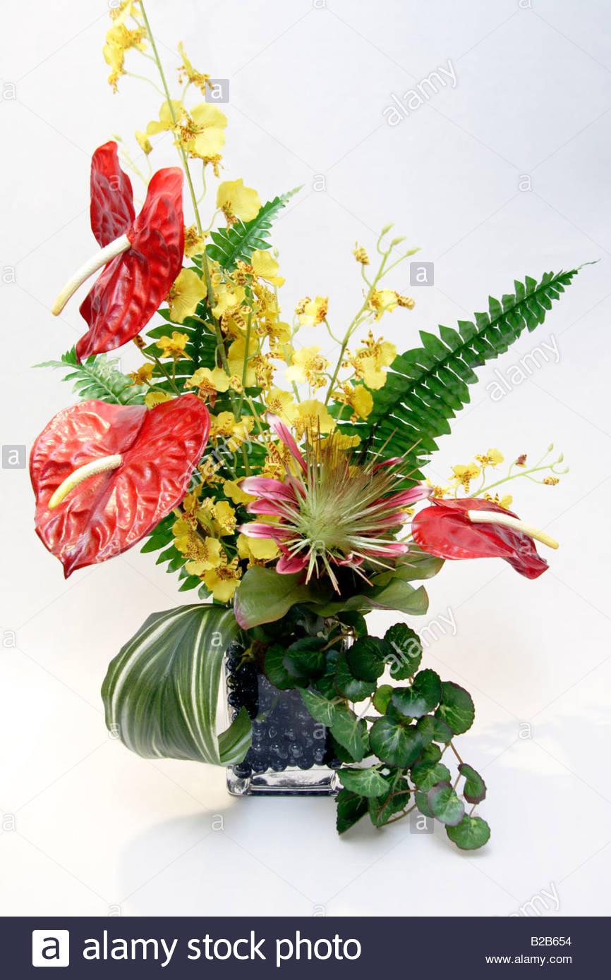 Flower Arrangement Anthurium Flowers Stock Photos Flower