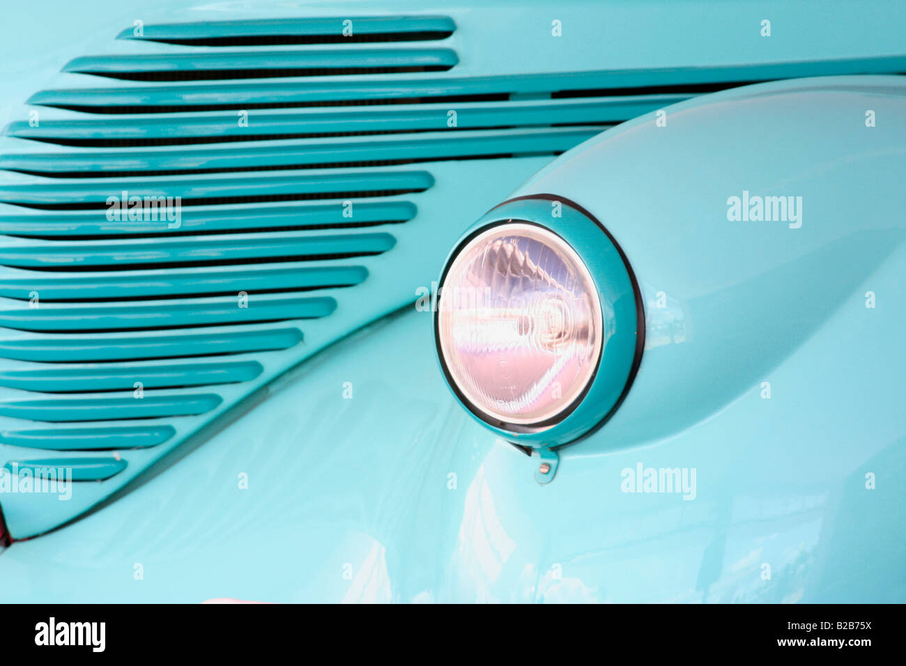 Vintage car headlight - Stock Image