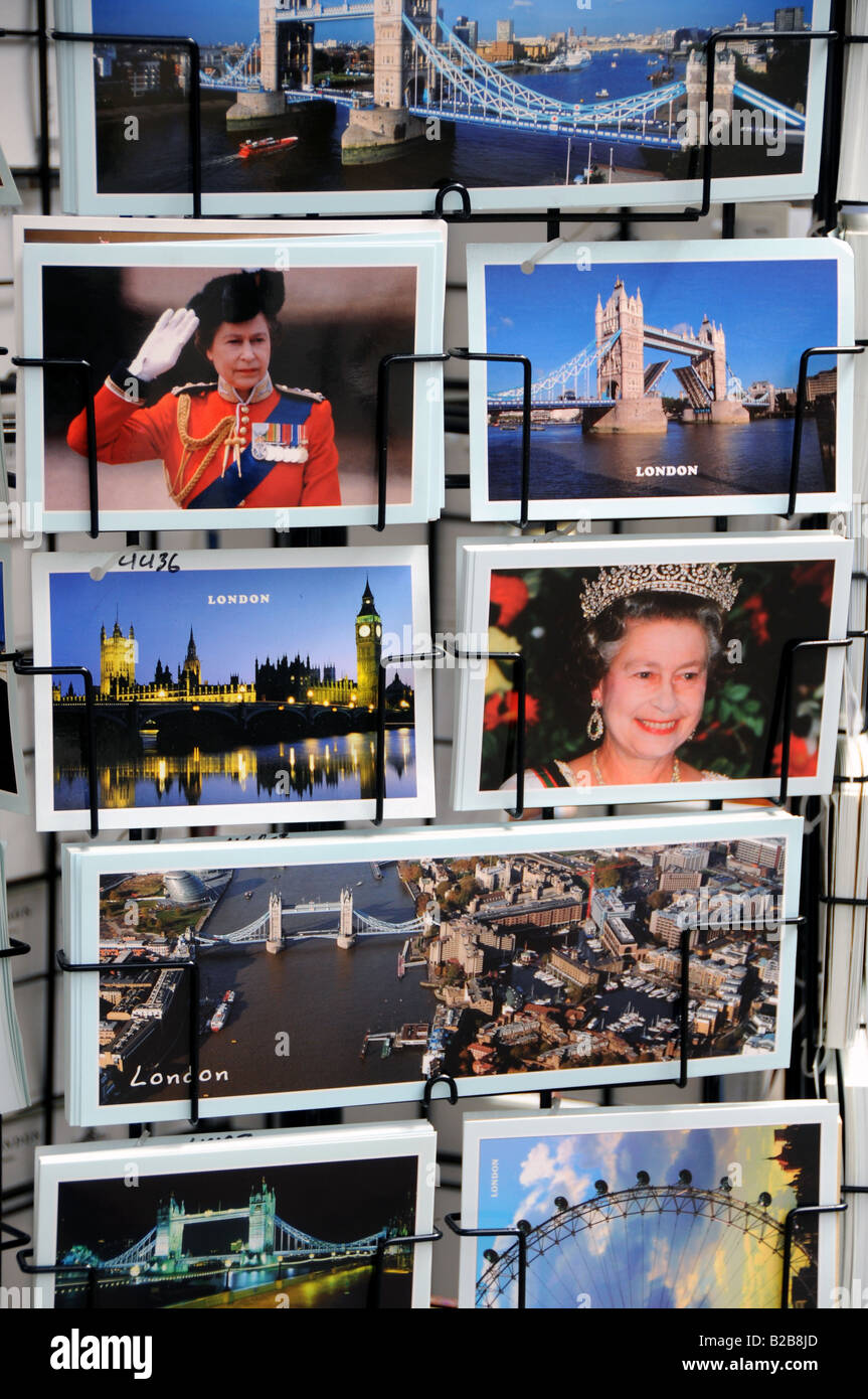 Postcards for sale, London, UK - Stock Image