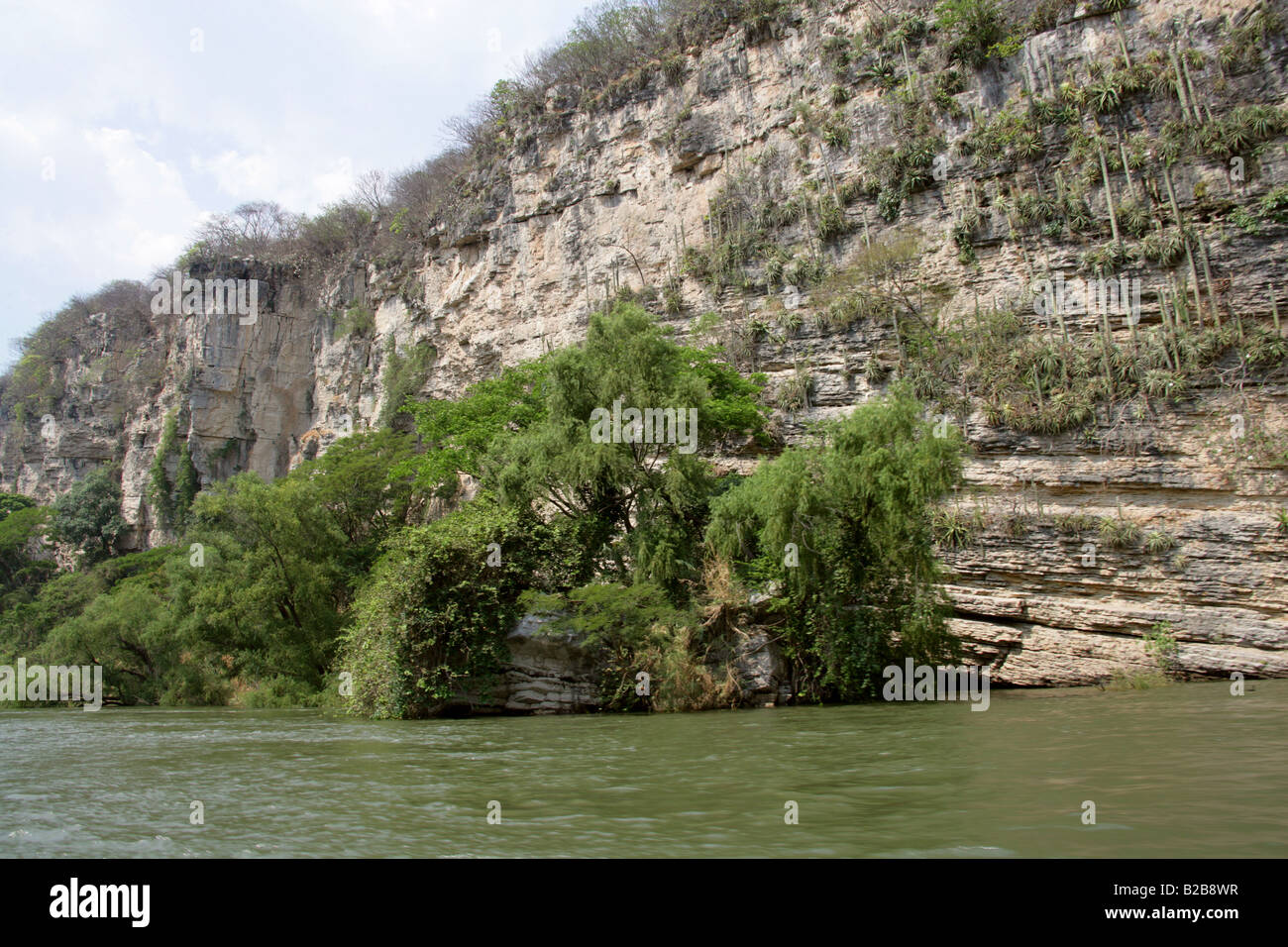 Sumidero Canyon and Grijalva River, Chiapas State, Mexico Stock Photo
