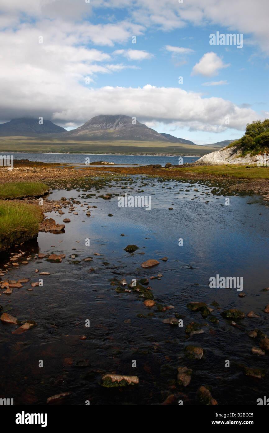 Jura from Islay at Bunnahabhain Hebrides Scotland - Stock Image