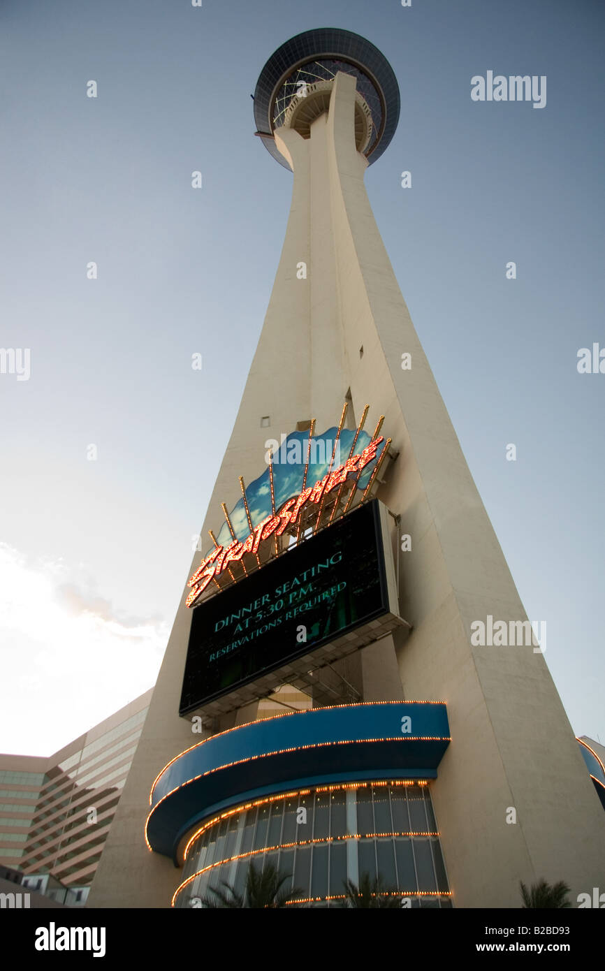 The Stratosphere Hotel and Casino in Las Vegas, Nevada - Stock Image