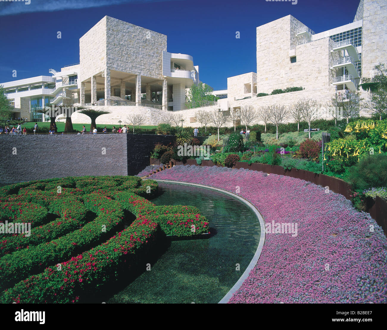 Getty Centre Los Angeles California USA - Stock Image