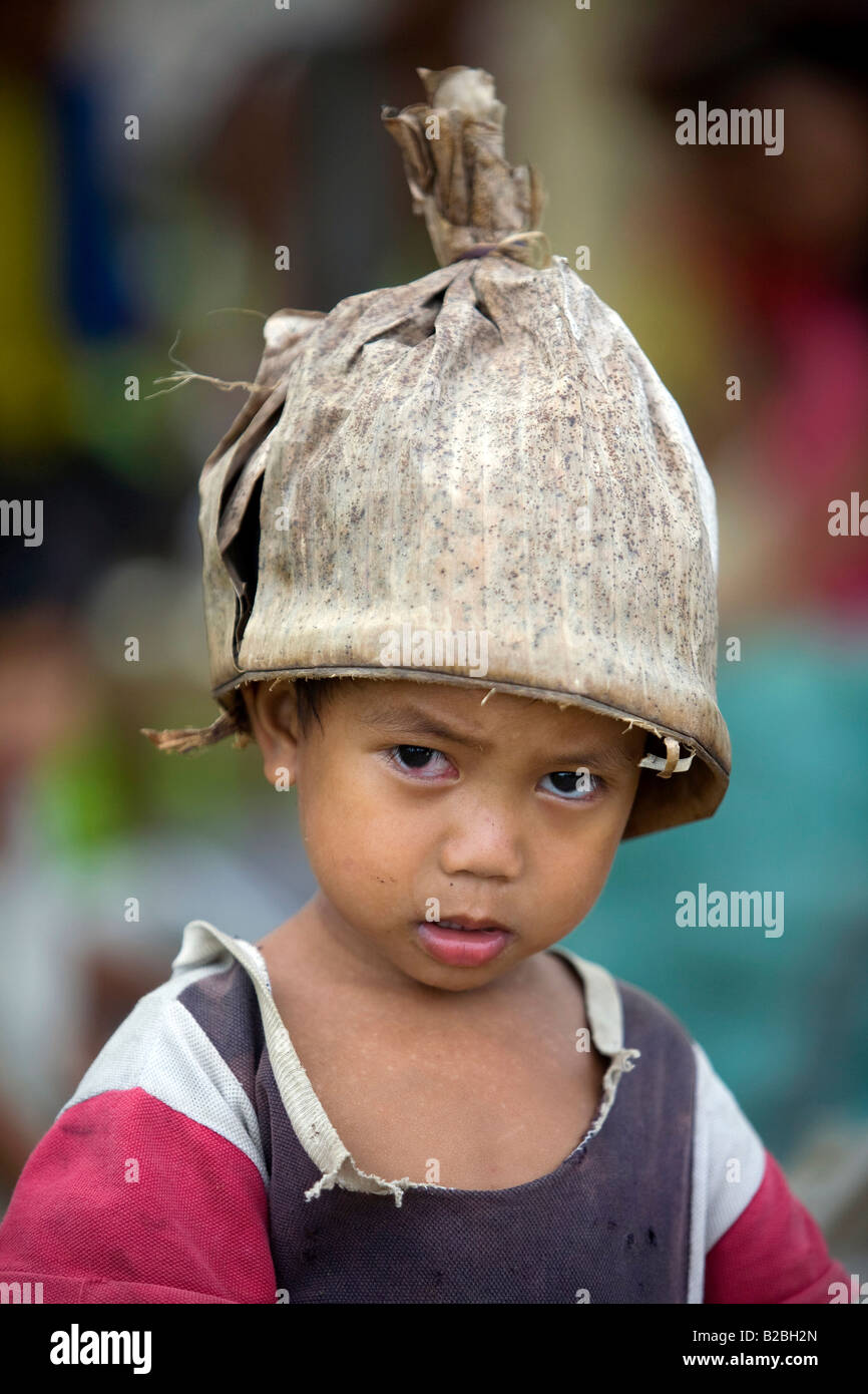 A Mangyan boy from the Pinaytayan community near Mansalay, Oriental Mindoro, Philippines. - Stock Image