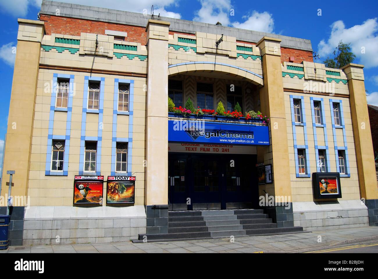 Art Deco Regal Cinema Building, King Street, Melton Mowbray, Leicestershire, England, United Kingdom - Stock Image