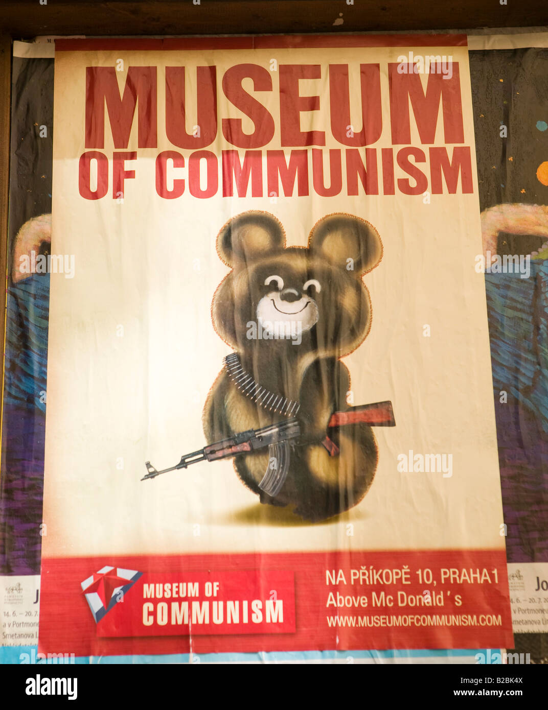 politic, museum, comunism, poster, ilustration - Stock Image