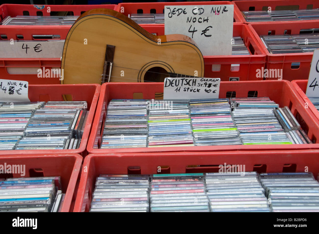 Music Cd Disks For Sale In The Flea Market In Museumsinsel Museum Stock Photo Alamy