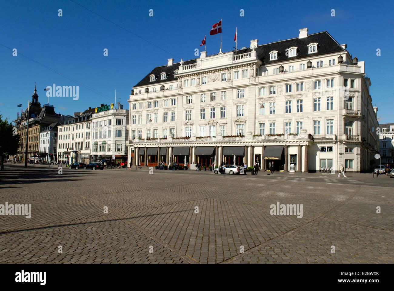 Historic Luxury Hotel d'Angleterre, Kongens Nytorv, Copenhagen, Denmark, Scandinavia, Europe - Stock Image