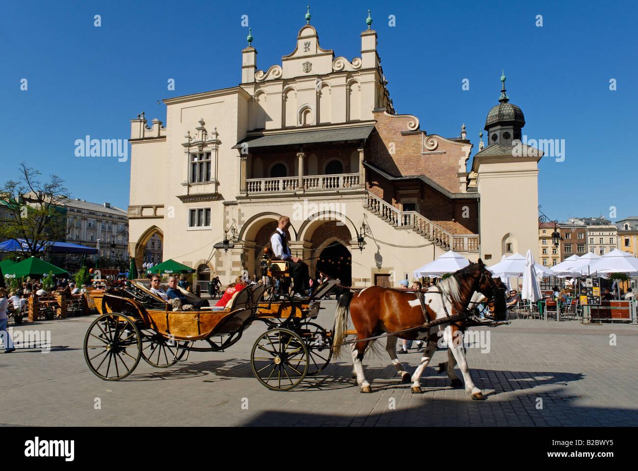 Cloth Hall, Drapers' Hall, Sukiennice on the main market square, Rynek, of Krakow, Poland, Europe Stock Photo