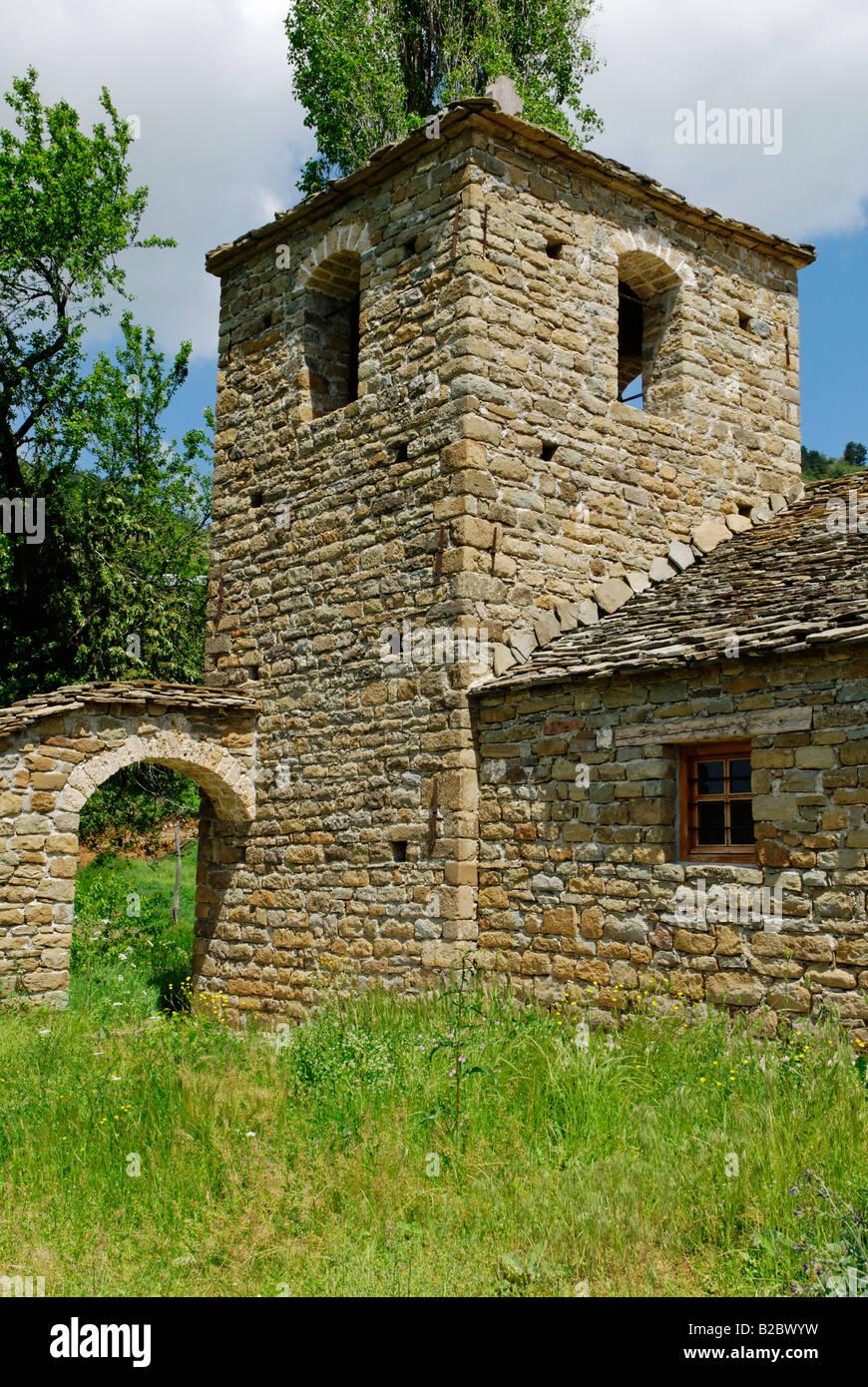 Mediaeval church of Krushove near Voskopoje, Albania, Europe - Stock Image