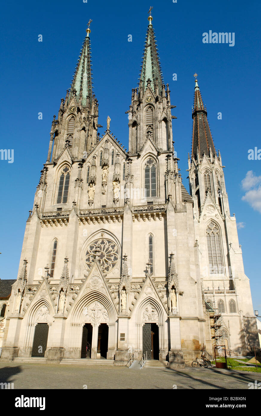 Cathedral of Olomouc, Olomouc, North Moravia, Czech Republic, Europe - Stock Image