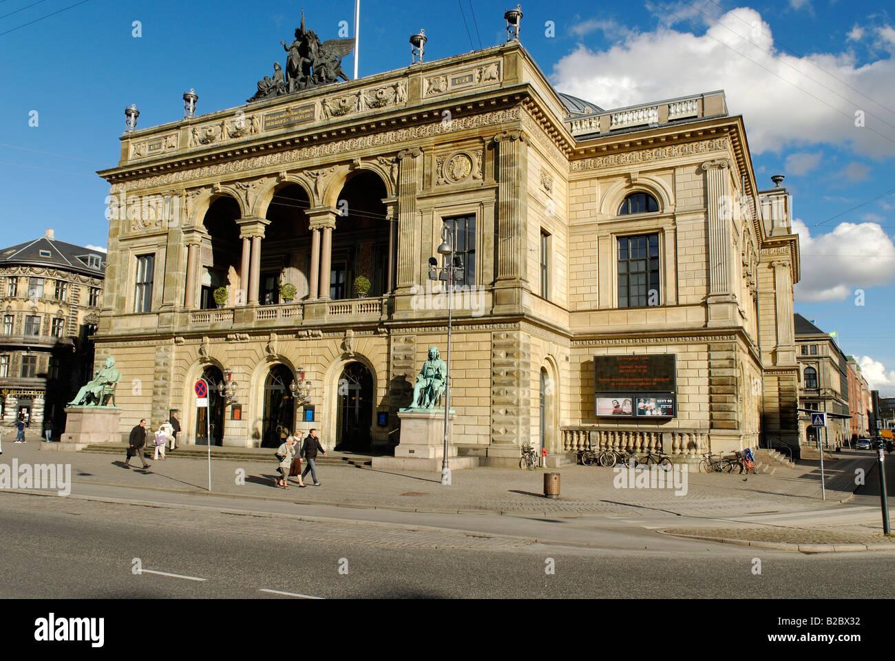 Royal Danish Theatre on Kongens Nytorv, King's New Square, Copenhagen, Denmark, Scandinavia, Europe - Stock Image