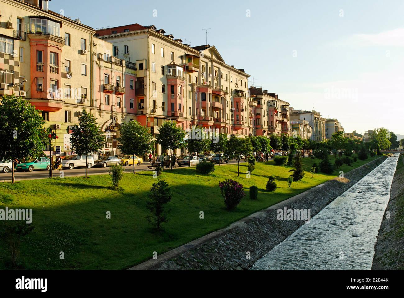 Bajram Curri Boulevard, Tirana, Albania, the Balkans, Europe - Stock Image