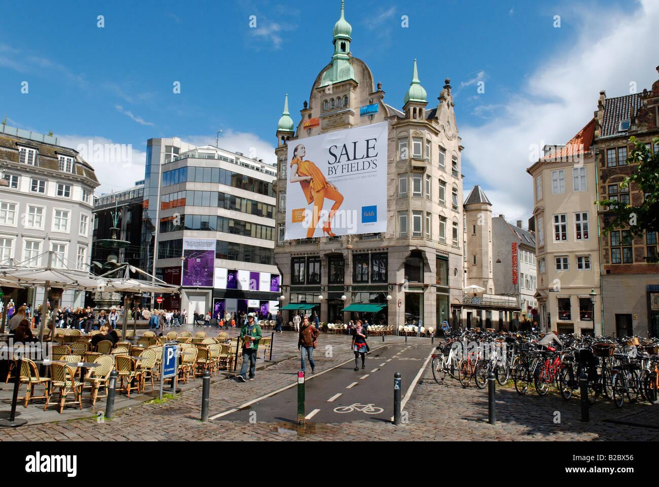 Amagertorv und Stroget, Copenhagen, Denmark, Scandinavia, Europe Stock Photo
