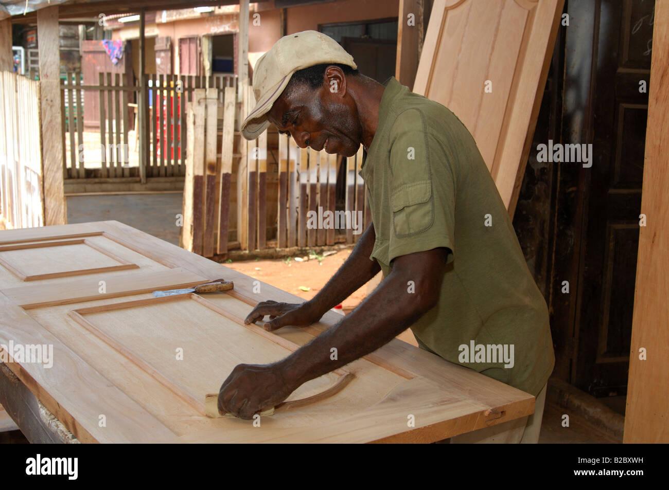 carpenter working in a carpenter s workshop accra ghana africa
