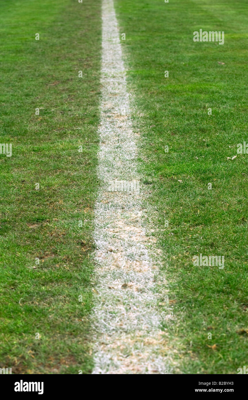 Sideline of the football pitch - Stock Image